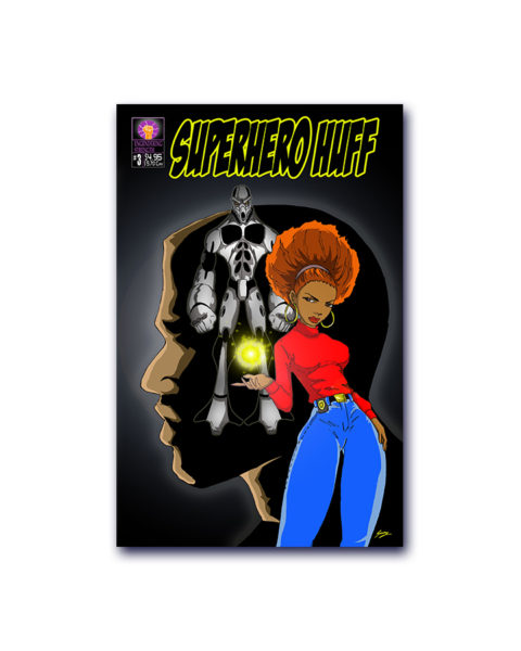 Super hero Huff Comic Book