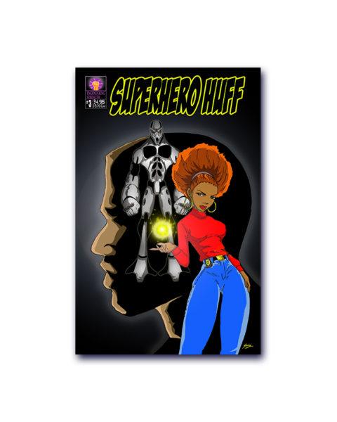 Super hero Huff Comic Book
