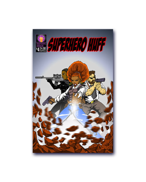 Superhero Huff Comic Book