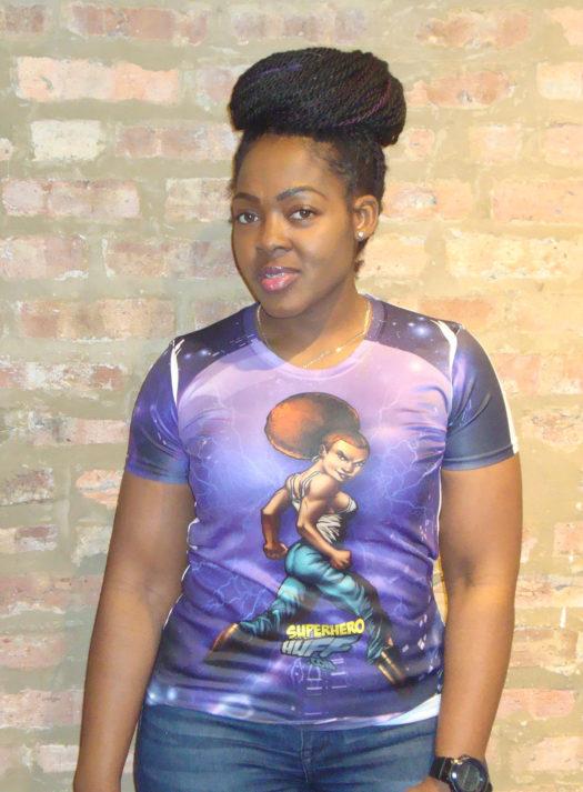 SUper Hero Huff Purple Passion T-shirt